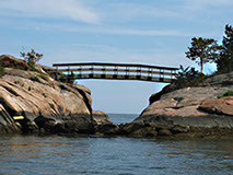 "an original photograph called ""Bridge Over Troubled Waters"" by Herb Rosenfield of the AFCCenter of Cheshire, CT"